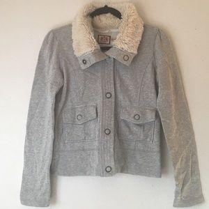 JUICY COUTURE Vintage 90's Sweatshirt w/Fur Collar